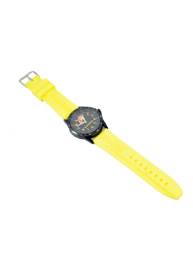 "Watches ""Unarmy"" black case and yellow band"