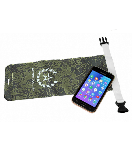 """Sealed phonecase RUSSIAN ARMY (Camouflage Pixel)Чехлы для iPhone<br>Perfect way to keep your phone safe from water, dust and dirt. <br>Just roll  the top of the case to several turns and fix it with """"quick lock"""" fastener. <br>The transparent insert allows to use phone or tablet not taking out from the case. <br>*The tablet shown  at the picture is not in included and pictured only to compare size as an example.<br>Used materials:<br>Composition of PVC on fabric base and transparent PVC insert<br><br>Размер: камуфляж пиксель<br>Пол: Прочее"""