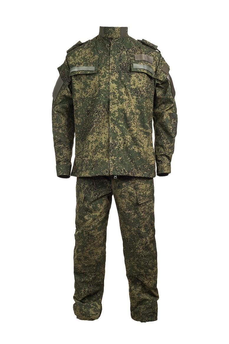 Suit All-season Field Outfit KitВерхняя одежда<br>Composition: 65% cotton, 35% polyester<br>The costume consists of a mixture fabric, so it is more comfortable in daily wear.<br>The content of cotton provides good hygroscopicity and air permeability of the fabric.<br>The polyester content increases wear resistance.<br>Resistance to tearing is provided by ripstop threads.<br>The costume is reinforced in the elbows, knees and sitting areas.<br>On the chest, sleeves and corners of the collar there are textile fasteners for attaching identification badges.<br>Jacket with a central zip fastener and textile fasteners on the windproof valve.Collar-standing-turn-down. The width of the sleeve is regulated by a textile fastener on the wrist.<br>Pants with a fastener on the buttons on the belt and burr.At the bottom of the trousers - pads with a clasp from the inside to the button on the side seam.  The width of the trousers at the bottom is regulated by a cord.<br>Features:<br>Green pixel color.<br><br>Цвет: Зеленый<br>Размер: 46,  3<br>Пол: Мужчинам